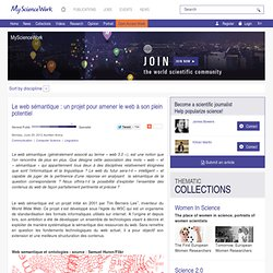 Le web sémantique : un projet pour amener le web à son plein potentiel