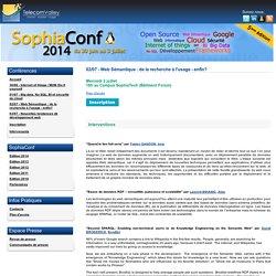 02/07 - Web Sémantique : de la recherche à l'usage - enfin?