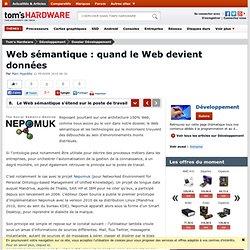 Le Web sémantique s'étend sur le poste de travail : Web sémantique : quand le Web devient données