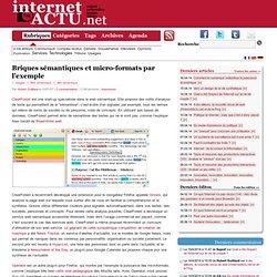 Briques s?mantiques et micro-formats par l?exemple ? InternetActu.net