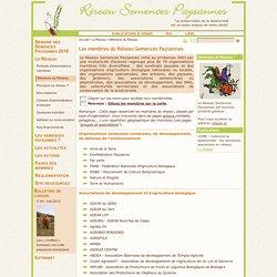 Réseau Semences Paysannes - Coordonnées des membres du réseau RSP
