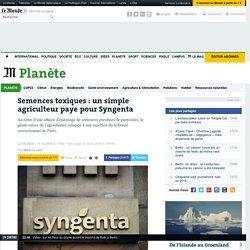 Semences toxiques: un simple agriculteur paye pour Syngenta