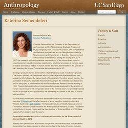 Katerina Semendeferi - Faculty - Anthropology