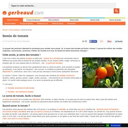Cultiver la tomate pearltrees - Comment cultiver des tomates ...