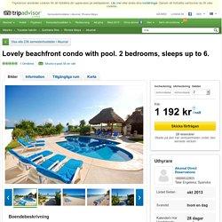 Lovely beachfront condo with pool. 2 bedrooms, sleeps up to 6. - Semesterbostäder i Akumal, Riviera Maya