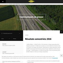 Colas : Résultats semestriels 2016 - Leader mondial de la construction de routes