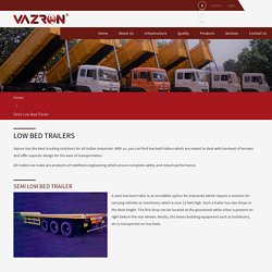 Semi Low Bed Trailer Manufacturers