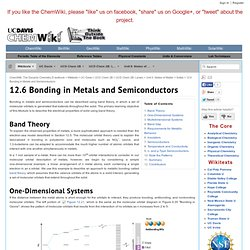 12.6 Bonding in Metals and Semiconductors