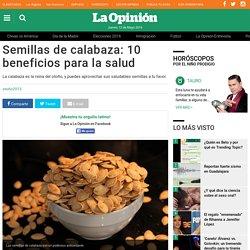 Semillas de calabaza: 10 beneficios para la salud