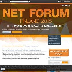 Katsaus seminaariohjelmaan / NET FORUM Finland 2015, Helsinki - Easyfairs
