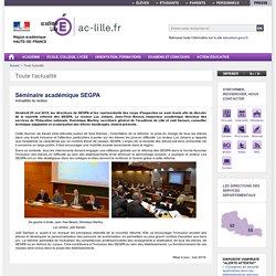 Séminaire académique SEGPA - Académie de Lille