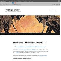 Séminaire DH EHESS 2016-2017