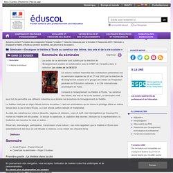 Séminaire « Enseigner le théâtre à l'École au carrefour des lettres, des arts et de la vie scolaire » - Sommaire