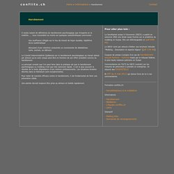 Séminaire harcèlement le 17 novembre 2011 à Lausanne