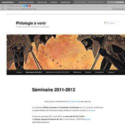 Séminaire 2011-2012