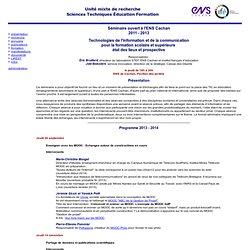 Séminaire TIC ENS Cachan 2011-2012