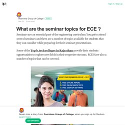 What are the seminar topics for ECE ?
