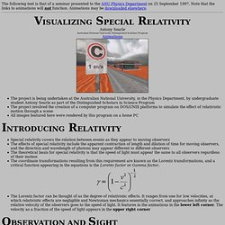 Seminar: Visualizing Special Relativity