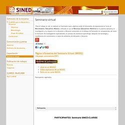 Seminario virtual - CLARISE para la Educación a Distancia
