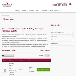 Seminars - Employment Law, HR, Health & Safety