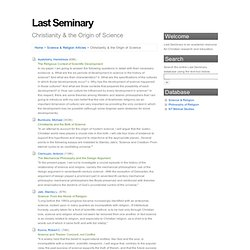 Last Seminary - Christianity & the Origin of Science