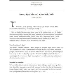 Icons, Symbols and a Semiotic Web
