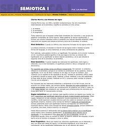 Semiótica I - Prof. Luis Martínez