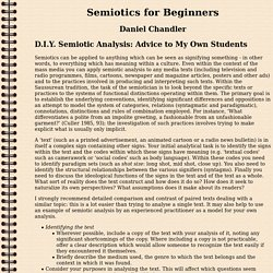 Semiotics for Beginners: D.I.Y. Semiotic Analysis