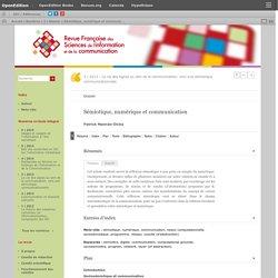 Sémiotique, numérique et communication