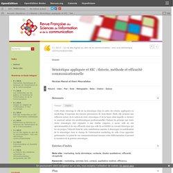 Sémiotique appliquée et SIC: théorie, méthode et efficacité communicationnelle