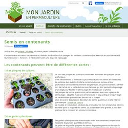 Semis en contenants - monjardinenpermaculture.fr