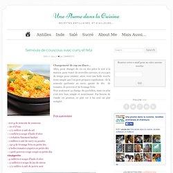 Semoule de couscous avec curry et feta