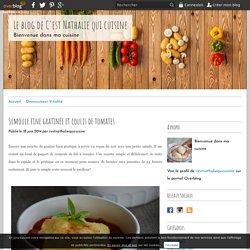 Semoule fine gratinée et coulis de tomates