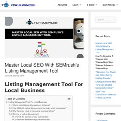 Master Local SEO With SEMrush's Listing Management Tool