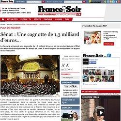 Sénat : Une cagnotte de 1,3 milliard d'euros…
