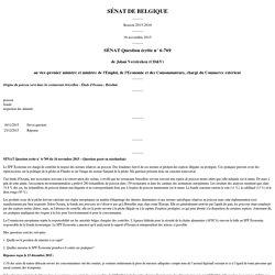 SENAT BELGE 16/11/15 Réponse à question N°6-769 Origine du poisson servi dans les restaurants bruxellois - Étude d'Oceana - Résultats