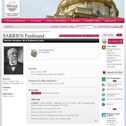 Anciens sénateurs IIIème République : SARRIEN Ferdinand