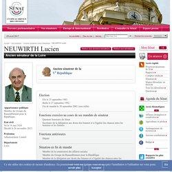 Anciens sénateurs Vème République : NEUWIRTH Lucien