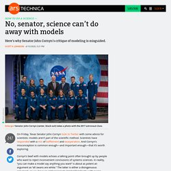 No, senator, science can't do away with models