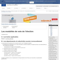 Les modalités de vote de l'élection / Dossier élections sénatoriales 2014 / Elections 2014 / 2014 / Archives des actualités / Archives