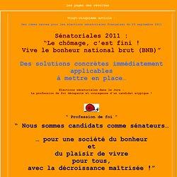 La profession de foi aux sénatoriales 2011 dans le Jura de Pierre Sarramagnan-Souchier