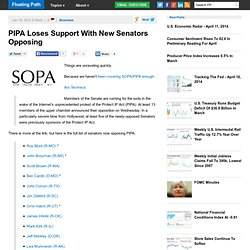 PIPA Loses Support With New Senators Opposing | Floating Path