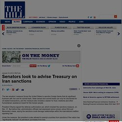 Senators look to advise Treasury on Iran sanctions