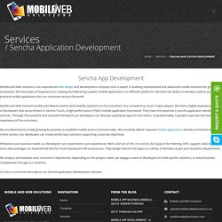 Sencha App Development Services by Mobile and Web Solutions