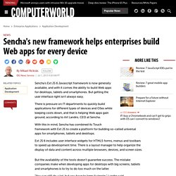 Sencha's new framework helps enterprises build Web apps for every device