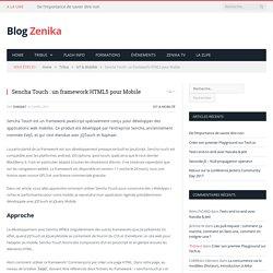 Sencha Touch : un framework HTML5 pour Mobile