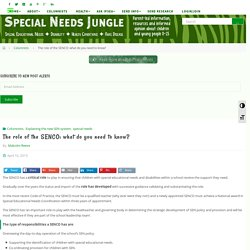 The role of the SENCO: what do you need to know? - Special Needs Jungle
