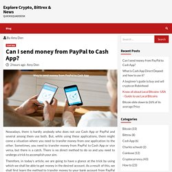 Can I send money from PayPal to Cash App?