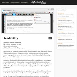 Send Web Pages to Kindle - Readability