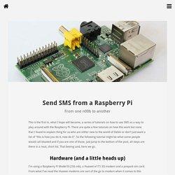 Send SMS from a Raspberry Pi